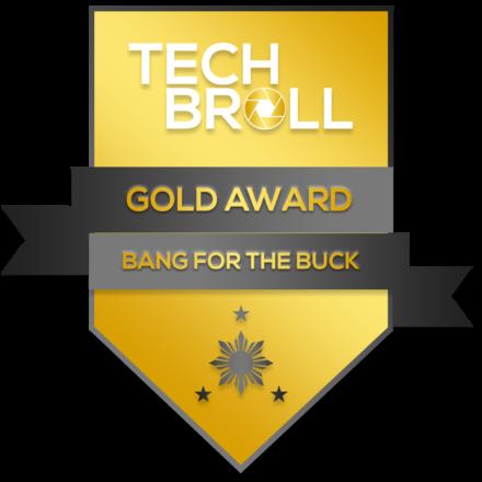 TechBroll Gold Award Solid Performance