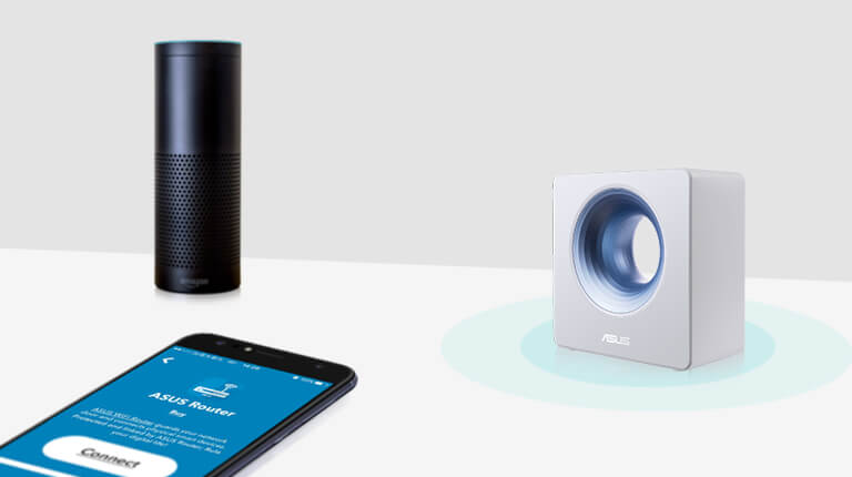Blue Cave works with Amazon Echo, Amazon Alexa, and IFTTT; realizing home automation, voice command to control your IoT devices.